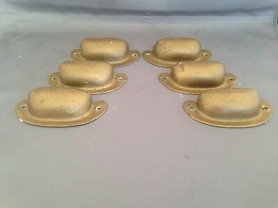 Vintage Brass Drawer Pulls, Lot of 6