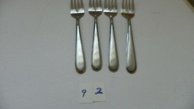 Set Of 4  Stanley Roberts  Beaded Elegance  Stainless Salad Forks  Rogers