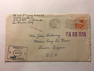 Ww2 Soldier Letter And Cover  From Hawaii To Arizona Lonely Gi Censored