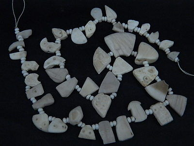 Ancient Shell/Bone Beads Strand Roman 200 BC  #BE424