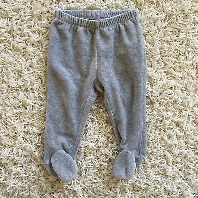 Baby Gap First Favorites 6-12 Months Gray Footed Sweatpants Leggings