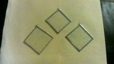 handmade stain glass sun catcher. squares with solder finish. 3 inches x 3inches