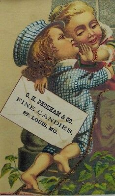 1870's-80's O.H Peckham & Co Fine Candies Rapunzel Tower Boy Fabulous! P39