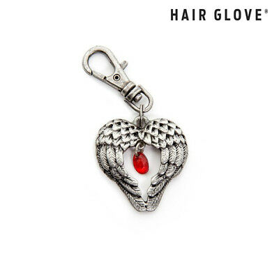 Hair Glove® Biker Zipper Pull Charm, Angel Wings w/Ruby, 61023, Motorcycle