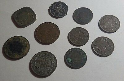 India Coins 1911 - 1940 Lot of 10