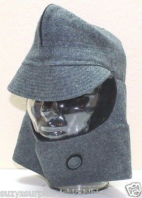 15d5bb0290e WWII Swiss Army K31 shooters grey green wool hat cap 56cm 22in size 7 each  H7351