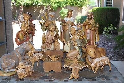 "16 piece Fontanini Nativity Set 12"" Scale Orig. Boxes 1983 Heirloom Collection"