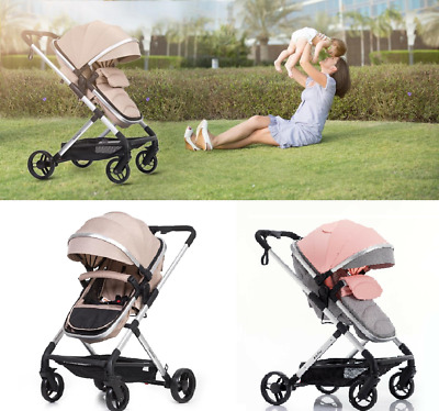 Baby Infant Stroller Travel Pram Bassinet Newborn Carriage Foldable Pushchair