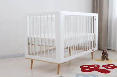 Brand New Baby-Infant-Classic-Cot-Crib-With Toddler Bed+ Mattress.white/brown