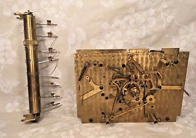 Vtg Electric Herschede Grandfather Clock Movement Strike Drive & Hammers 1929