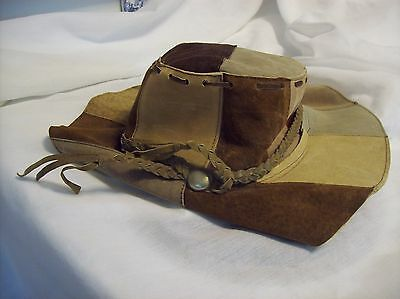 VTG REAL LEATHER Hillbilly Hat Whiskey Making Duck Dynasty  Pop Corn Sutton Hat