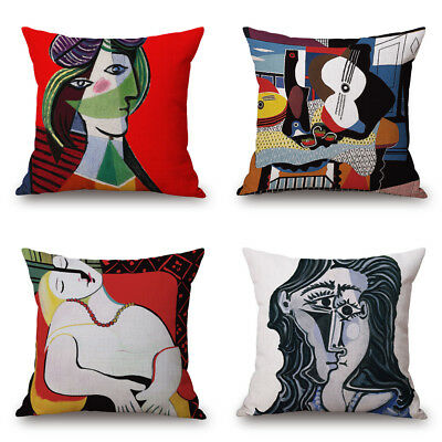 18'' Picasso Abstract Paintings Decorative Throw Pillow Case Cushion Cover