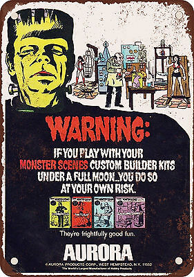 """7"""" x 10"""" Metal Sign - 1967 Monster Model Kits - Vintage Look Reproduction"""