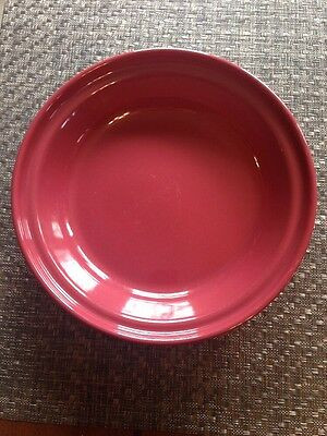 "Longaberger Pottery Pie Plate Grandma Bonnie Paprika Red 10"" Woven Traditions"