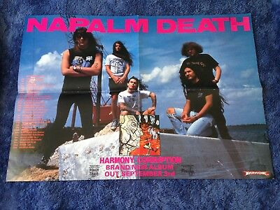 NAPALM DEATH - Harmony Corruption POSTER (42cm x 59.5cm) - USED
