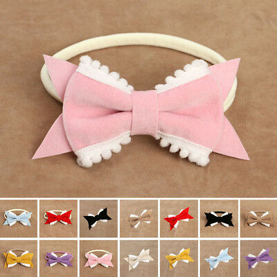 Bow Baby Prop Photo Headband Headwear Hair Band Girl Accessories Hairpin Toddler