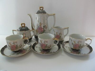 Very Vintage Collectible Porcelain Made in Japan 8 Footed Tea Service