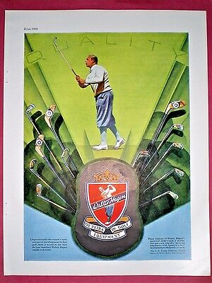 Scarce 1929 Print Ad ~ WALTER HAGEN GOLF CLUBS ~ The Ultimate In Golf Equipment
