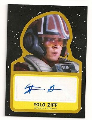 2017 Journey To Star Wars The Last Jedi Stefan Grube Auto #09/10 Yolo Ziff