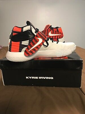 643cc1838262 NIKE KYRIE 2 LMTD LIMITED CROSSOVER RED WHITE BLACK 838639 990 sz 9 ...
