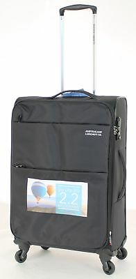 Australian Luggage Co So-Lite 66cm Spinner Suitcase Black