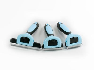 Pet Deshedding Tool for Small, Medium and Large Dogs/Cats - DELE