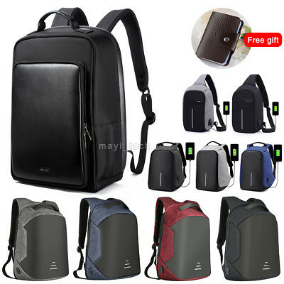 AU Anti Theft Backpack Water Repellent Design Travel School Bags With USB Port