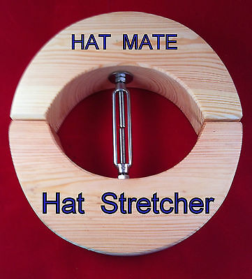 GREAT PRESENT  give a HAT STRETCHER PINE & STAINLESS STEEL NO more hat headaches