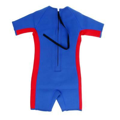 Kids Toddler Shorty Surfing Swim Diving Wetsuit Jumpsuit Blue Age 1-10 Years