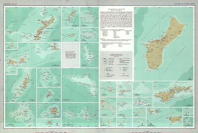 US National Atlas 1970, Pacific Outlying Areas, Islands, Guam etc. --- Postcard