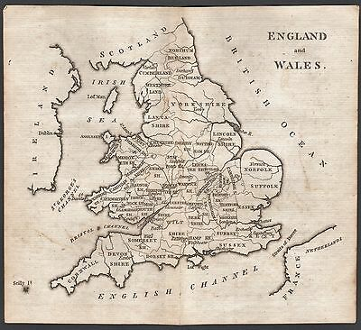 1790 Antique  Map - Aikin - England And Wales
