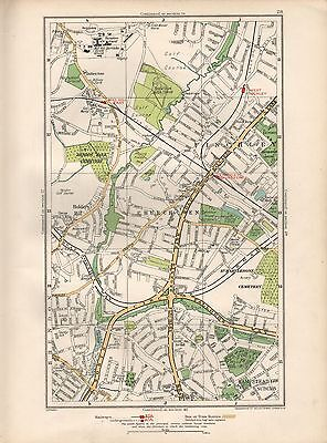 1936 large scale map london church end mill hill east west finchley hampstead