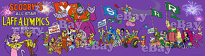 NEW! EXTRA LARGE! LAFF A LYMPICS Panoramic Photo Print HANNA BARBERA Scooby Doo