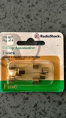 5 Amp 32V Automotive Fuses, new package of 4