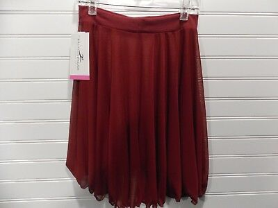 Motionwear Pull on Skirt, Red Mesh, Adults Size Small and Large, New with Tags