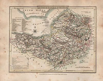1816 County Map G Cole & J Roper : Somertsetshire