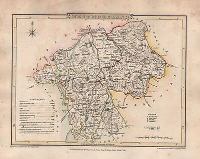 1816 County Map G Cole & J Roper : Westmoreland