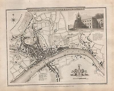 1816 Town Plan G Cole & J Roper : Newcastle Upon Tyne & Gateshead