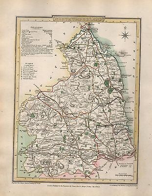 1816 County Map G Cole & J Roper : Northumberland