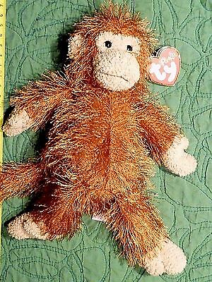 TY Beanie Babies PUNKIES Collection ZIG ZAG The MONKEY AWESOME ORIGINAL TAGS