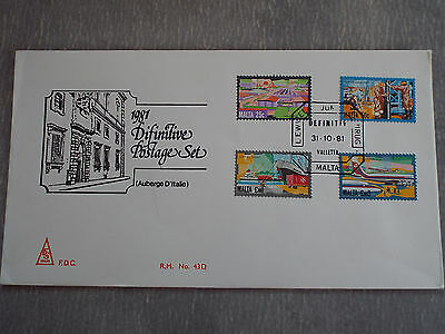 FDC Malte Valletta 1981 : Série courante - Industries et transports
