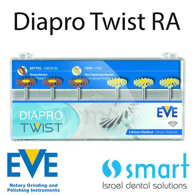 Dental Eve Diapro Twist RA 363 EMax disilicate ceramic polishing diamond system