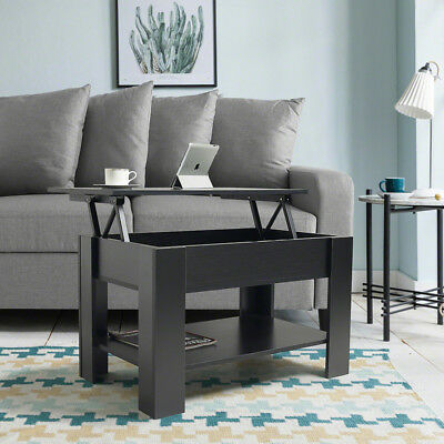 Lift up top Coffee Table with shelf