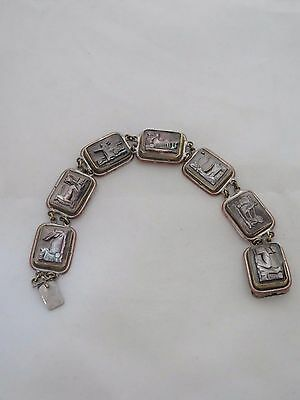 Antique Bracelet with Ancient Carvings Stamped BCBCD