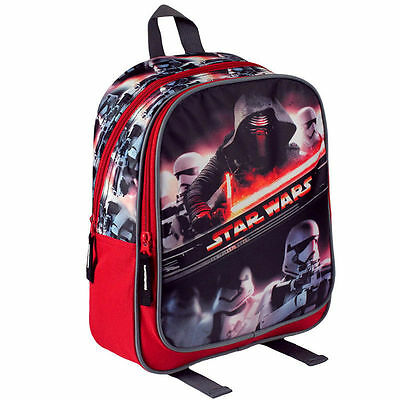 Disney Star Wars The First Order Sac à Dos Noir Rouge 25 x 30 x 9cm Neuf