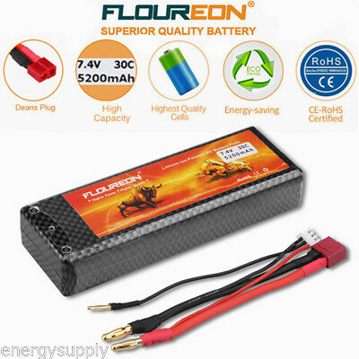 2S 7.4V 5200mAh 30C LiPo Battery T for Car Traxxas Slash 4x4 Emaxx UAV Drone FPV