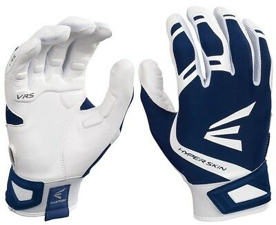 1pr Easton ZF7 VRS Hyperskin Womens Large White / Navy Fastpitch Batting Gloves