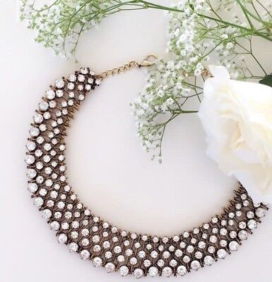 ZARA Style Statement Necklace Rhinestone