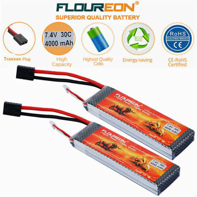 2X 2S 30C 7.4V 4000mAh LiPo Battery TRX for Car Helicopter Drone FPV UAV Trucks