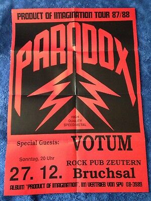 PARADOX - Product Of Imagination Tour 87/88 POSTER (84cm x 59cm)